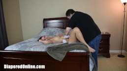 Alisha Enema Mess Diaper Corner