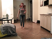 Beautiful Red Haired Teen Inga Is Fucked Hard On A Pov Camera