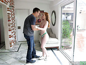British Red Haired Seductress Ella Hughes Gets Doggy Fucked