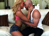 Slutty Blonde Katerina Kay Hooks Up With One Bald Headed Dude
