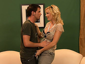 Blond Mommy Holly Sampson Gets Intimate With Her Stepson
