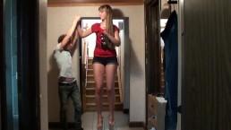 Tall Girl Vs Short Guy Height Comparison