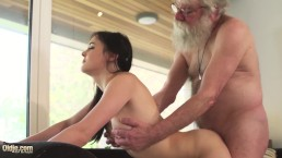 Old And Young Porn Teen Girlfriend Rides Grandpa Cock Makes Him Cum Hard
