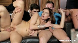 Barmaid Samantha Joons Gets A Birthday Four- Way And A Face Full Of Cum