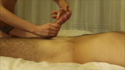 Hot Dick Massage With A Lot Of Cum! Ruined Orgasm