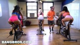BANGBROS – Curvy Latina Rose Monroe Fucked In Spin Class By Brick Danger