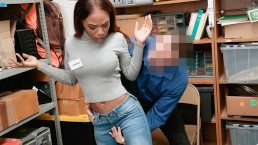 Shoplyfter – Ebony Teen Sarah Banks Fucked For Stealing