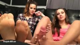 Sasha Foxxx Caught Staring At Sisters Foot Worshiping Footjob