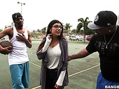 Curvy Arab Babe In Glasses Mia Khalifa Is Fucked By Two Black Dudes
