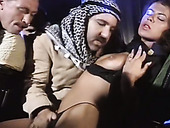 Horny Arab Man Fucks Trashy Looking Whore With Big Tits And Hairy Pussy