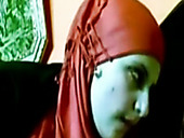 Kinky Chick In Red Hijab Knows How To Give A Proper BJ