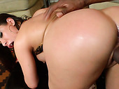 Big Assed Brunette Hooker Got Ass Fucked In Sideways Style By Black Guy