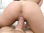 Big Assed Filthy Hottie Rides Staff Cock In Cowgirl And Reverse Poses