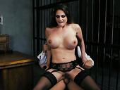 Prisoner Cathy Heaven Seduces Dude And Rides His Big Dick