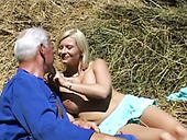 Hot Blonde Teen With Big Tits Gets Railed By Old Grey Haired Dude