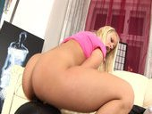 Blonde Chick Enjoy Her New Sex Tool That Sucks Her Goodies
