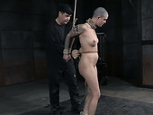 Perverted Bondage Master Beats His Slave With A Whip