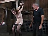 Tricky Bondage Master And Wicked Dominatrix Are Having Fun With Their Slave