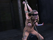 Horny Bondage Master Makes Her Gag On His Rock Hard Dick