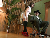 British Caregiver Samantha Bentley Fucks One Rich Dude With Disabilities