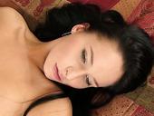Stunning Brunette Masturbates On The Big Bed