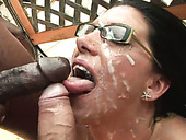 Cum-addicted Harlot Sucks Several Cocks Until She Gets A Facial