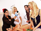 Blond British Nurse Charlie Monaco Takes Part In Crazy Group Sex