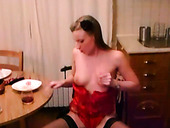 Skanky Euro Whore Adds Spicy Flavor To Her Wine By Pissing In It