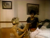 Vintage Blonde Housewife Gives Blowjob To A Duo Of Majordomo