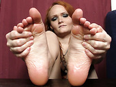 Naughty Gal Samantha Involves Her  Sexy Feet In Action