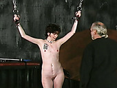 Skinny Black Haired Filth Adores To Watch Her Old Man Fucking Her In Fetish Manner