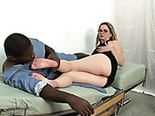 Fetished Black Stud Licks Caucasian Girls Smooth Soles And Armpits