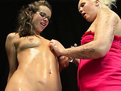 Lascivious Brunette Gets Her Pussy Fisted Hard And Deep