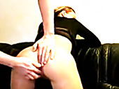 German Blonde Shows Off Her Amazing Ass And Sucks Dick