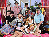 Lederhosen Groupsex Fuck Party