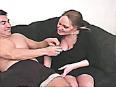 Undressing Slutty Brunette Deana Provides A Cock With A Handjob