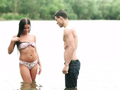 Charming Italian Babe Eveline Dellai Is Making Love By The Lake