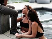 Romantic Babes Adriana Chechik And Her Girlfriend Enjoy Having Threesome Sex