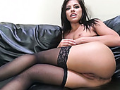 Wanton Raven Haired Whore Adriana Chechik Masturbates After Steamy Sex With Her Man