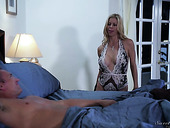 Delicious Blond Babe In Cheer Lingerie Alexis Fawx Goes Wild On Hard Pole