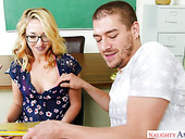 Savory Chick In Glasses Zoe Parker Hooks Up With One Hot Blooded Guy