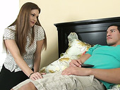 Lecherous Step Mommy Allison Moore Gets In Step Son's Pants