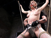 Hogtied Bitch Ashley Lane Gets Her Pussy Punished In The Dungeon