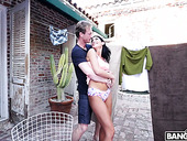 Slender Hottie August Ames Gets Her Pussy Fucked Outdoor