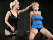 Lesbian Mistress Dee Williams Gets Punished In The Dark Room