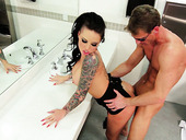 Rubbish Slut Christy Mack Gets Fucked Hard Upskirt In A Public Toilet