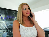 Kinky Milf Brooklyn Chase Gives Blowjob And Jerks Off Dick With Boobs