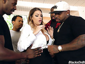 Fucking Jot Milf Brooklyn Chase Is Fucked And Jizzed By Several Black Dudes
