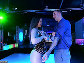 Curvy Hoochie Brooklyn Chase Gets Her Pussy Banged In The Night Club