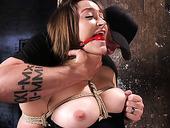 Bondage Babe Dani Daniels Gets Her Pussy Finger Fucked In The Dark Room